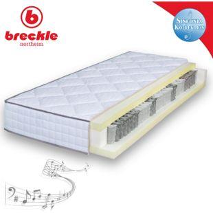 Breckle Sinfonia TFK 500 Visco Taschenfederkernmatratze Viscoschaum... 90x190 cm (Sondergröße) - Bild 1