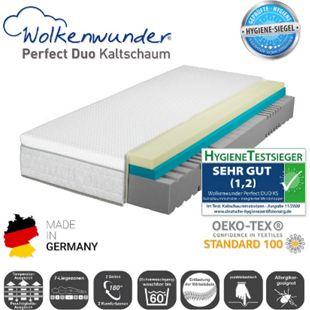 Wolkenwunder Perfect DUO KS Kaltschaummatratze inkl. integriertem Topper... H3, 80x200 cm - Bild 1