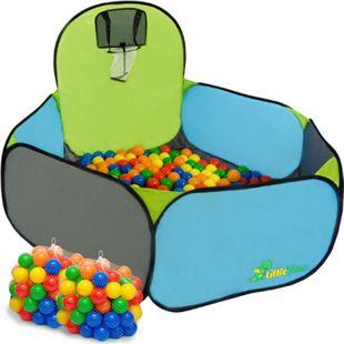 Kinderzelt + 200 Bällebadbälle Babyzelt Spielhaus Spielzelt PupUp Zelt NEU Kinderzelt Pumba - Bild 1