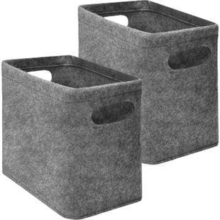 2x FILZ Toilettenpapier Aufbewahrung - Set für 8 Klorollen Aufbewahrungsbox Bad - Bild 1