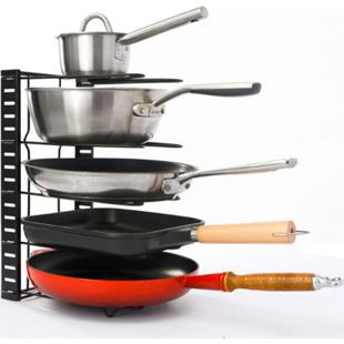 Pfannen Organizer mit 5 Ablagen Topfdeckel Aufbewahrung Küche Topf Regal - Bild 1