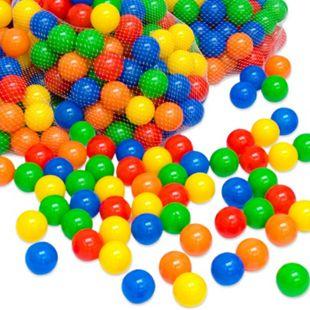 50 bunte Bälle für Bällebad 5,5cm Babybälle Plastikbälle Baby Spielbälle - Bild 1
