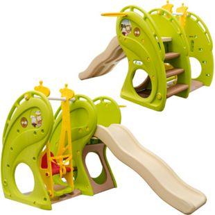 Kinderrutsche mit Schaukel 180x110x120 cm Kunststoff Kinderschaukel mit Rutsche Spielhaus - Bild 1