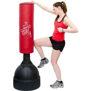 160 cm Standboxsack Box Punching Bag Standfuß PU Boxsack Stehend Boxständer Rot - Bild 1