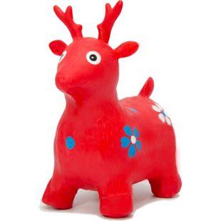 Hüpfelch Rot Hüpftier Hüpfpferd Sprungpferd Hüpfspielzeug für Mädchen und Jungen - Bild 1
