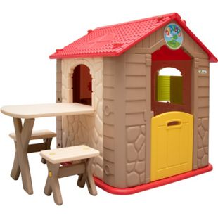 Kinder Spielhaus ab 1 - Garten Kinderhaus mit Tisch - Indoor Kinderspielhaus - Bild 1