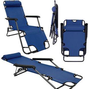 Campingstuhl Liegestuhl Freizeitliege Sonnenliege Strandliege Campingliege 153cm - Bild 1