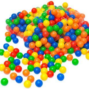 400 bunte Bälle für Bällebad 5,5cm Babybälle Plastikbälle Baby Spielbälle - Bild 1