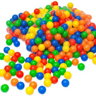 10000 bunte Bälle für Bällebad 5,5cm Babybälle Plastikbälle Baby Spielbälle - Bild 1