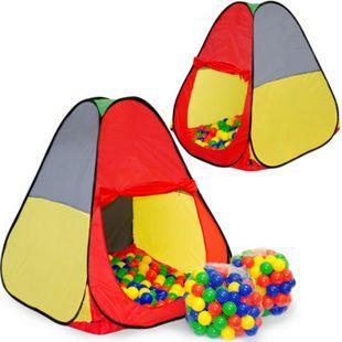 Spielset Kinderspielzelt Jasper inkl. 200 Bällebadbällen | Spielzelt Spielhaus für Jungen und Mädchen | Kinder-Bällebad-Zelt mit Spielbällen | inkl. Tragetasche - Bild 1