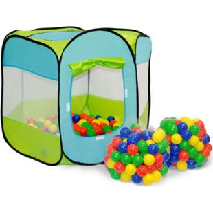 Spielset Kinderspielzelt Elliot inkl. 200 Bällebadbällen | Spielzelt Spielhaus für Jungen und Mädche - Bild 1