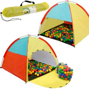 Spielset Kinderspielzelt Fabius inkl. 200 Bällebadbällen | Spielzelt Spielhaus für Jungen und Mädchen | Kinder-Bällebad-Zelt mit Spielbällen | inkl. Tragetasche - Bild 1
