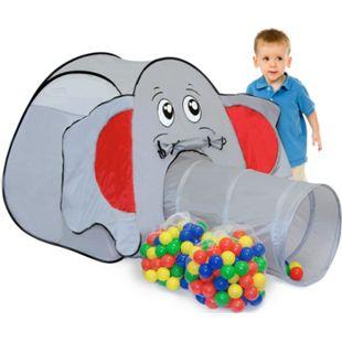 Spielset Kinderspielzelt Jumbo inkl. 200 Bällebadbällen | Spielzelt Spielhaus für Jungen und Mädchen | Kinder-Bällebad-Zelt mit Spielbällen | inkl. Tragetasche - Bild 1