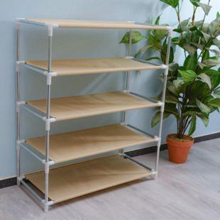 Schuhregal DIY-Ausführung stabil rostfrei 5 Ebenen Schuhständer Schuhablage - Bild 1