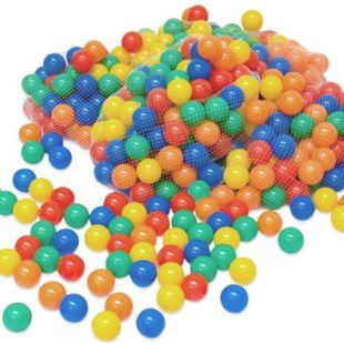 LittleTom 900 bunte Bälle für Bällebad 6cm Babybälle Plastikbälle Baby Spielbälle - Bild 1
