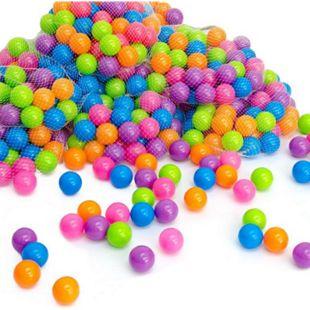 600 bunte Bälle für Bällebad 5,5cm Babybälle Plastikbälle Baby Spielbälle Pastell - Bild 1