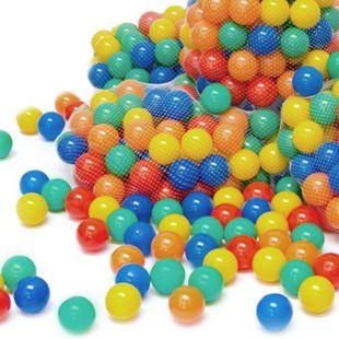 300 bunte Bälle für Bällebad 7cm Babybälle Plastikbälle Baby Spielbälle - Bild 1