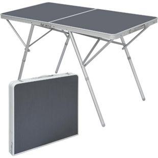 Standfester Aluminium Campingtisch 120x60x70cm Stabiler Klapptisch Alu-Falttisch - Bild 1
