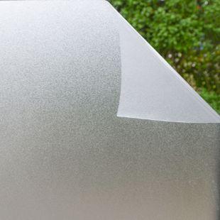 Fensterfolie 90x200 cm Milchglas Blickdicht Sonnenschutz Selbstklebend Statisch - Bild 1