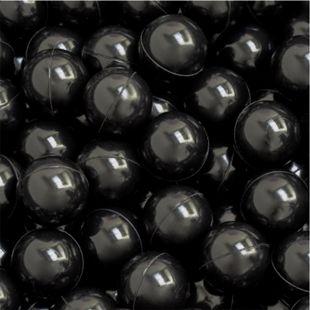 50 Bälle für Bällebad 5,5cm Babybälle Plastikbälle Baby Spielbälle Schwarz - Bild 1