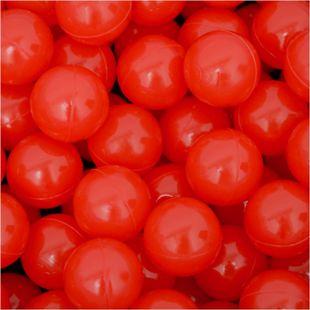 50 Bälle für Bällebad 5,5cm Babybälle Plastikbälle Baby Spielbälle Rot - Bild 1