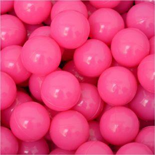 50 Bälle für Bällebad 5,5cm Babybälle Plastikbälle Baby Spielbälle Pink - Bild 1