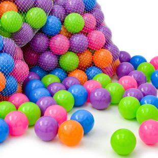 100 Bällebadbälle 6 cm Bunte Bälle für Bällebad Spielbälle Babybälle Pastell - Bild 1