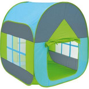 Bällebad Spielzelt 90x90x110cm Popup Baby Spielhaus Kinder-Zelt Blau - Bild 1