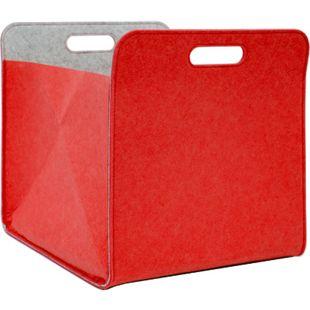 Filz Aufbewahrungsbox 33x33x38 cm Kallax Filzkorb Filzbox Regal Einsatz Box Rot - Bild 1