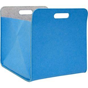Filz Aufbewahrungsbox 33x33x38 cm Kallax Filzkorb Regal Einsatz Box Filzbox Blau - Bild 1