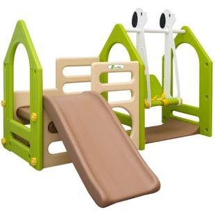 Kinder Spielplatz ab 1 Jahr 155x135 Garten Spielturm - Baby Rutsche mit Schaukel - Bild 1