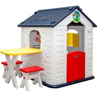 Kinder Spielhaus ab 1 - Garten Kinderhaus mit Tisch - Kinderspielhaus Kunststoff - Bild 1