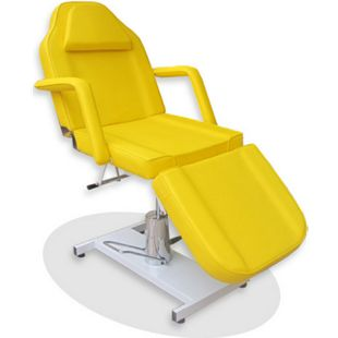 360° Massagestuhl Kosmetikstuhl Spa Kosmetikliege Behandlungsliege Gelb - Bild 1