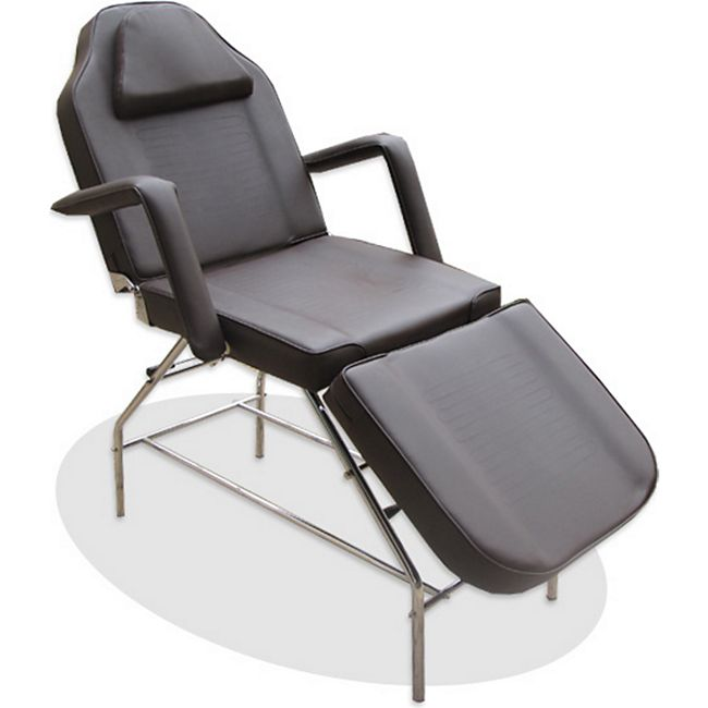 3-Zonen Kosmetikstuhl Massagestuhl Massageliege Behandlungsstuhl Braun - Bild 1