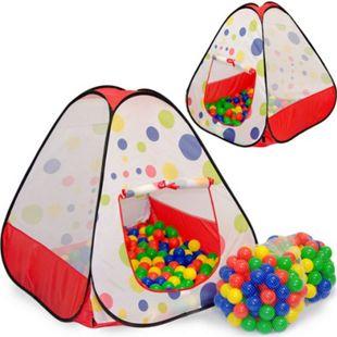 Spielset Kinderspielzelt Tiana inkl. 200 Bällebadbällen | Spielzelt Spielhaus für Jungen und Mädchen | Kinder-Bällebad-Zelt mit Spielbällen | inkl. Tragetasche - Bild 1