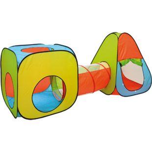 Bällebad Spielzelt Set 260x90x100cm Popup Spielhaus Kinder Zelt Tunnel - Bild 1