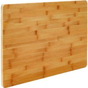 2cm dickes XL Schneidebrett 50x35cm Bambus Holz Schneidbrett Holzbrett Küche - Bild 1