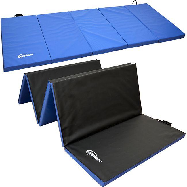 XXL Gymnastikmatte 300x100x5 Turnmatte Sportmatte Gymnastik Weichbodenmatte Blau - Bild 1