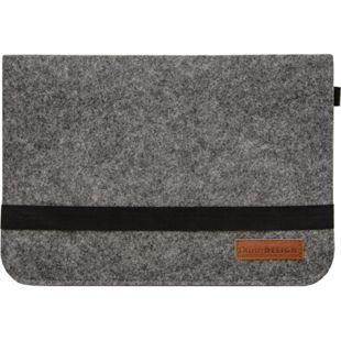 13.3 Filz Laptop-Tasche 35x24 cm Tablet Hülle MacBook Pro Air iPad Surface Grau - Bild 1