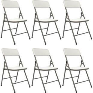 6 Klappstühle bis 150kg - 50x46x83,5 Balkonstuhl Klappbar Gartenstuhl Kunststoff - Bild 1