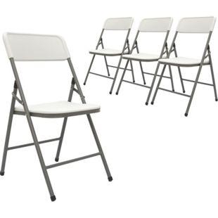 4 Klappstühle bis 150kg - 50x46x83,5 Balkonstuhl Klappbar Gartenstuhl Kunststoff - Bild 1