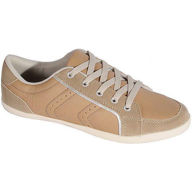 1e01f712eaf232 Damen Casual Sneaker Gr. 37 Halbschuhe Freizeit Sport Schuhe Schnürschuhe  beige online kaufen