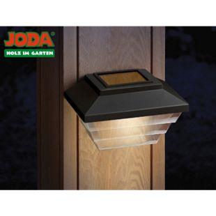 JODA 2er Set Topline Solarleuchte m. Akku Solarlampe Garten Hauslampe schwarz - Bild 1