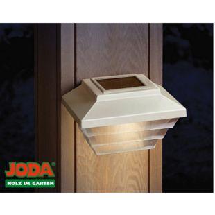 JODA 2er Set Topline Solarleuchte klein Akku Solarlampe Garten Hauslampe weiß - Bild 1