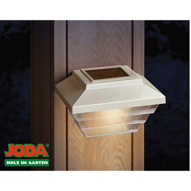 JODA 2er Set Topline Solarleuchte m. Akku Solarlampe Garten Licht Hauslampe weiß - Bild 1