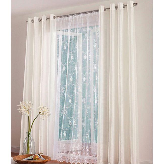 2x My Home Gardine Scheibengardine Fenster Vorhang Online Kaufen Bei Netto