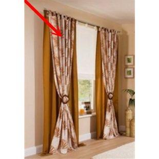 2x Fertigdeko Vorhang 135x225cm Schlaufen Schal Gardinen blickdicht braun kupfer - Bild 1