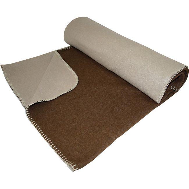 Wende Fleecdecke 150x200cm braun beige Decke Kuscheldecke Wohndecke Tagesdecke - Bild 1