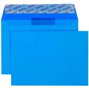 25x ELCO C6 farbige Briefumschläge Versandtaschen Kuvert Brief intensiv Blau - Bild 1