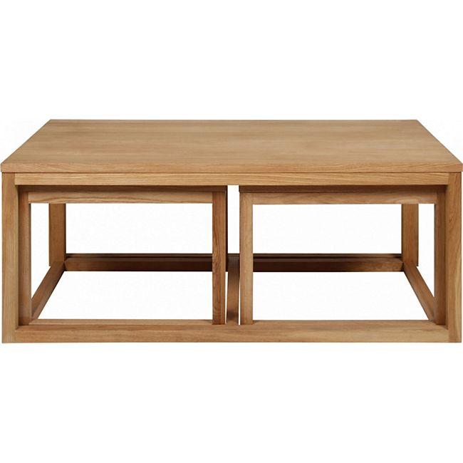 3-er Set PKline Couchtisch Tisch Beistelltisch Wohnzimmertisch Holztisch - Bild 1